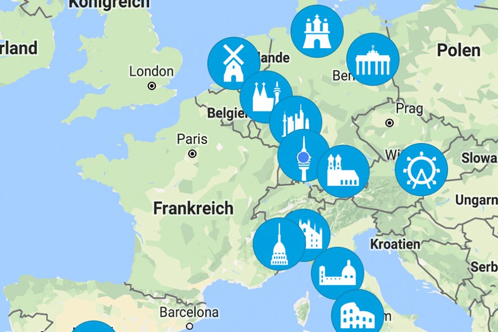 car2go Locations Europa