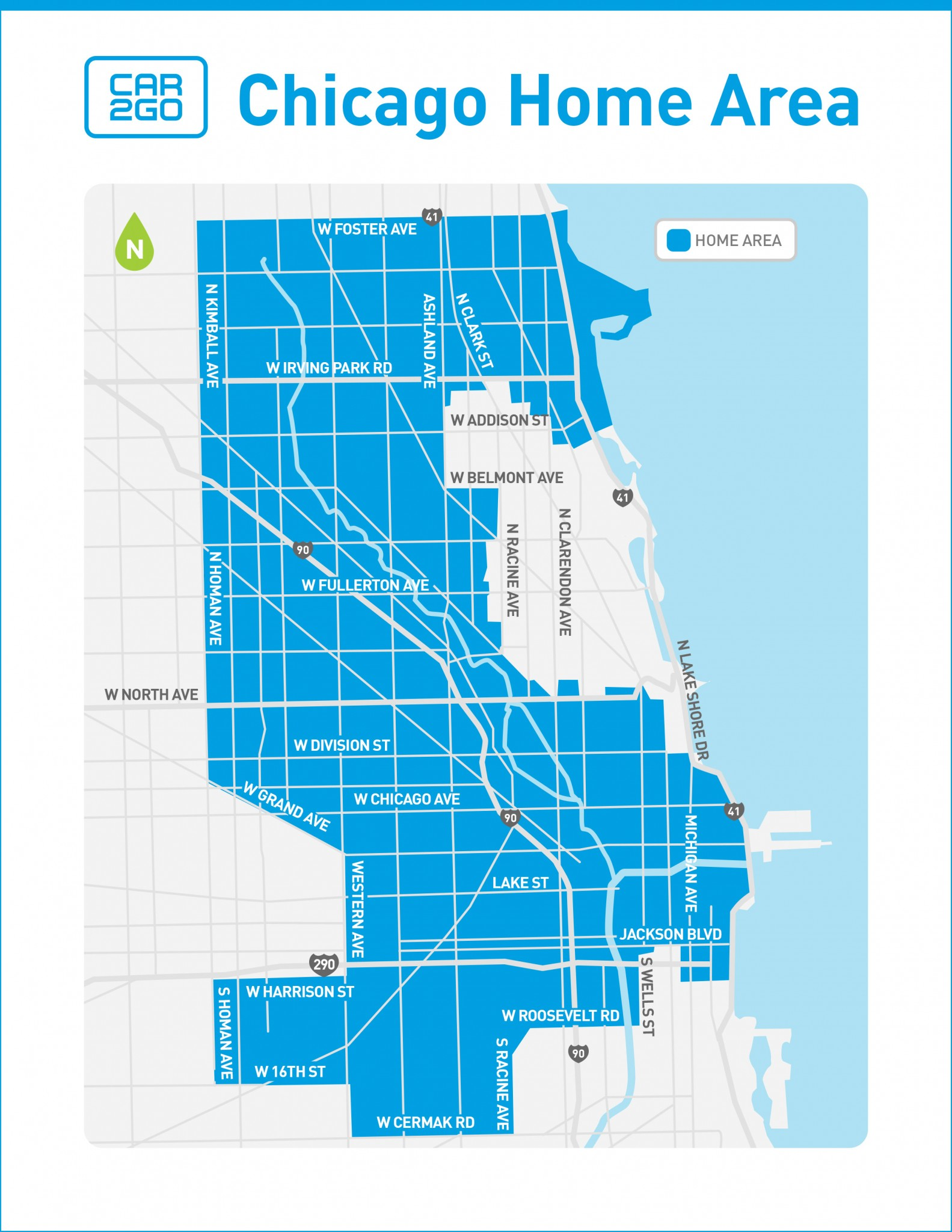 car2go chicago home area