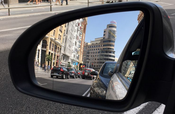 Retrovisor car2go Madrid